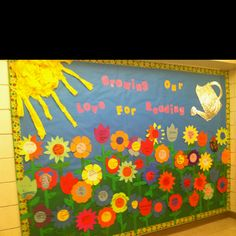 AR goals... flower or cloud added for each test passed... Put goal thermometers below on lockers