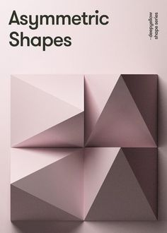 The deep shape poster series are designed by deepyellow studio demonstrating a synthesis of architecture and graphic design. the result are geometric shapes 3d Geometric Shapes, Geometric Decor, Shape Design, Wall Design, Design Art, Vintage Bedroom Furniture, Refurbished Furniture, Furniture Plans, Garden Furniture