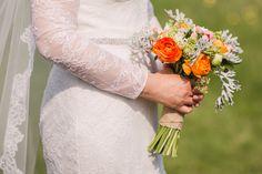 Brides Bouquet containing Ranunculus, Peonies and Senecio.  #Brides #Bouquet #Wedding #Flowers Photo: Paul Fletcher Photography