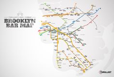 Wherein we list the best bar within a five-minute walk of basically every subway stop. Nyc Subway Map, Ny Map, Nyc Holidays, Pub Crawl, Just Smile, Cool Bars, Night Life, New York City, Brooklyn Bar
