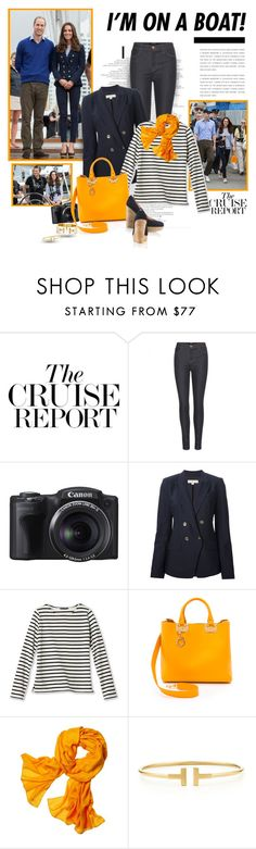 """""""I'm on a boat!"""" by helleka ❤ liked on Polyvore featuring J Brand, MICHAEL Michael Kors, Sophie Hulme, Reed Krakoff and Tiffany & Co."""