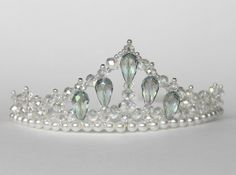 Crystal Princess Tiara by CreativeCalling1 on Etsy, $45.99