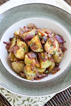 Warm, Roasted Baby Potato Salad
