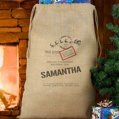 This Delivery Hessian Sack is a perfect way to present gifts to a recipient The sack will also give a festive feel sat by a fireplace and it can be