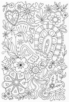 Scandinavian Coloring Book Pg 59 Coloring Pages Amp Stamps Free Adult Coloring, Coloring For Kids, Coloring Book Pages, Coloring Sheets, Embroidery Patterns, Hand Embroidery, Scandinavian Folk Art, Zentangle, Printable Coloring
