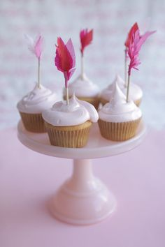 A ways away, but too cute!!    valentine's cupid's arrow cupcake toppers  pinks by chiarabelle, $12.00