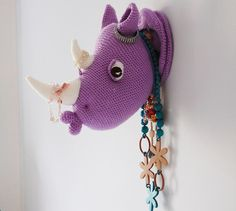 DIY Crocheted Rhino | 23 Delightful Pieces Of Faux Taxidermy Where No Animal Actually Died