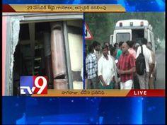 Passengers injured as lorry hits RTC bus in Guntur