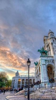 Sunset in Montmartre, Paris by iris-flower