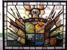 Detalhe de vitral no Castello Sforzesco - Milano, Italia