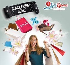 Excitement is shopping for you and your loved ones on #BlackFriday. Get super-amazing deals, discounts and offers from across brands at #GeoQpons. Save more and shop more with coupons from #GeoQpons.  Happy Shopping to you!  http://www.geoqpons.com/