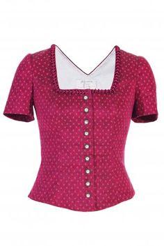 Country Blue Damen Trachten Shirt Top Hirsch Motiv rot Gr 38 NEU!!!
