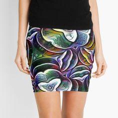 Knitted Fabric, Chiffon Tops, Abstract Art, Digital Art, Mini Skirts, Bloom, Printed, Knitting, Awesome