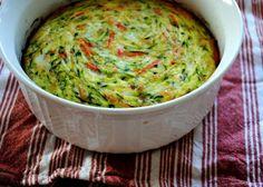 Zucchini and Carrot Swirl Quiche