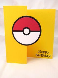 Tarjeta de Pokemon: Cumpleaños hechas a mano por StampinINK en Etsy