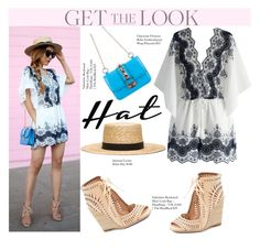 """""""Get The Look - Hat"""" by misshonee ❤ liked on Polyvore featuring Chicwish, Janessa Leone, Jeffrey Campbell, GetTheLook and hats"""