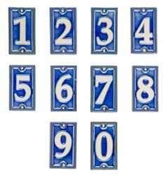 Antique Victorian handpainted ceramic door numbers various numbers available