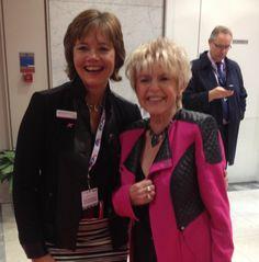 Gloria Hunniford and LGFB Executive Director, Sarahjane Robertson #icapcharityday #lgfbuk