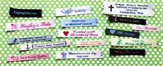 Clothing Labels, Sewing Labels, Woven Labels, Personalized Ribbons, Iron On Labels & Personalized Gift Wrap | Namemaker.com - Name Maker Inc