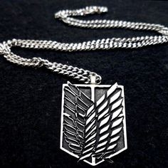 Attack on Titan Recon Corps Symbol Necklace by boxinghobo on Etsy