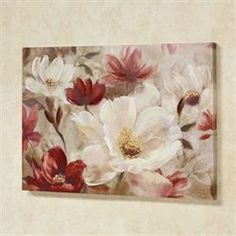 Natures Jewels Floral Canvas Wall Art - New Deko Sites Mini Canvas Art, Framed Wall Art, Canvas Wall Art, Floral Wall Art, Arte Floral, Flower Canvas, Flower Art, Wall Drawing, Oil Painting Flowers