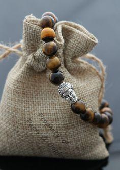 Silver Buddha Head Bracelet, Tiger Eye, Semi Precious Stone Jewerly Free Postage   eBay