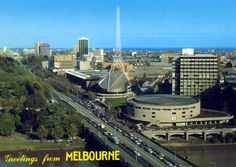 Postcard of the truncated version of the Arts Centre Spire that was erected in the 1980s.     Melbourne history in colour - Page 2 - SkyscraperCity