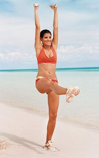Get a Bikini Body in 4 Weeks - Try our exclusive Pilates-based workout - - You'll sculpt your abs, arms, butt, and thighs in 20 minutes flat