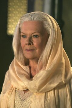 Judi Dench, the way she sees herself - tall, willowy, and blonde
