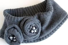 Recycle a sweater into a warm and adorable ear warmer head wrap with this tutorial from Flamingo Toes.
