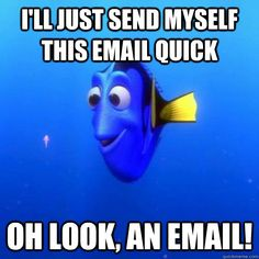 Oh look, an email! ...what I do everytime I send myself an email on my phone