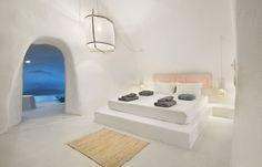 Sophia Luxury Suites - Santorini, Greece A... | Luxury Accommodations Santorini House, Santorini Hotels, Santorini Greece, Piscina Interior, Three Birds Renovations, Interior And Exterior, Interior Design, Luxury Accommodation, Rustic Interiors