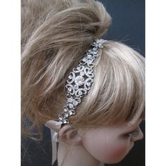 Bridal Headband Rhinestone ($38) ❤ liked on Polyvore featuring accessories, hair accessories, grey, weddings, rhinestone hair accessories, rhinestone headbands, bride hair accessories, ribbon headbands and sparkly hair accessories