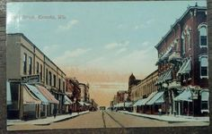 Your place to buy and sell all things handmade Kenosha Wisconsin, Western Theme, Contemporary Photography, Places Of Interest, Chicago Illinois, Old Postcards, Post Card, Main Street, Milwaukee