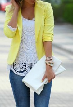 Yellow Touch Outfit Idea Via