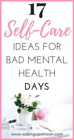 How to make a self care routine for your mental health bad days. Self care can help reduce symptoms of depression, anxiety, stress and other mental illnesses. These self care ideas will make you happier and more positive and these self care products are Mental Health Day, Mental Health Awareness, Women's Health, Health Coach, Relation D Aide, Low Mood, Self Care Activities, Depression Symptoms, Tips