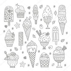 Find Collection Cute Vector Hand Drawn Cartoon stock images in HD and millions of other royalty-free stock photos, illustrations and vectors in the Shutterstock collection. Coloring Sheets, Adult Coloring, Coloring Books, Summer Coloring Pages, Disney Coloring Pages, Cute Food Drawings, Sketchbook Inspiration, Marker Art, Drawing Lessons