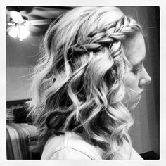 Curly hair with braid day!  Definitely doing this for recruitment this year!