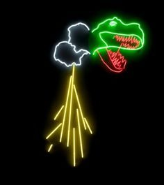 Although rare they do exist, collaborative neon light by Peter Lamb and  Paul Hosking,