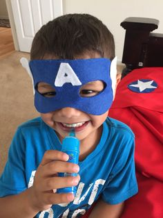 No sew DIY super hero mask