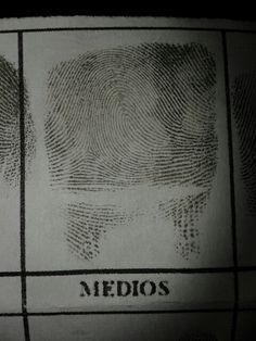 #Dactilograma #Huella #Digital #Dedo #Criminalistica