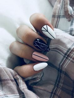 88 natural elegant summer nail designs to prepare for parties and holidays 2019 page 51 Shiny Nails, Matte Nails, Stylish Nails, Trendy Nails, Hair And Nails, My Nails, Nice Nails, Manicure E Pedicure, Best Acrylic Nails