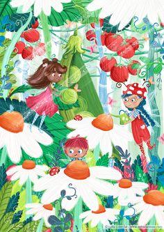 Fairy Garden | children's illustration by Sofia Cardoso #kidlitart #illustration
