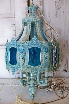 Hanging+chandelier+swag+lighting+ornate+by+AnitaSperoDesign