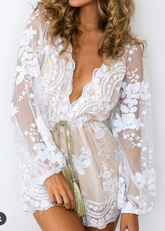 'Sequin Obsession' Playsuit-Women - Apparel - Jumpsuits/Rompers-Look Love Lust Belle Lingerie, Wedding Lingerie, Bachelorette Outfits, White Bachelorette Party Dress, Wedding Rompers, Wedding Dresses, White Playsuit, White Romper Outfit, Lace Romper