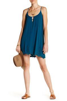 Sleeveless Trapeze Gauze Dress