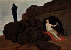 Arnold Böklin; Odisseo e Calypso; 1883; olio su tela; Kunstmuseum, Basilea.