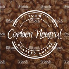 Vector illustration of a Coffee round label on coffee bean textured. Coffee Labels, Carbon Neutral, Round Labels, Book And Magazine, Free Vector Art, Label Design, Magazine Design, Image Now, Graphic Design Inspiration