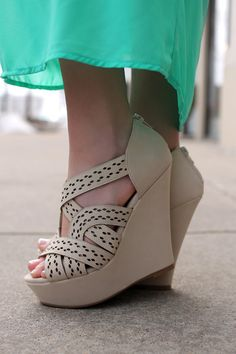 Strappy Cutout Wedges   UOIonline.com: Women's Clothing Boutique