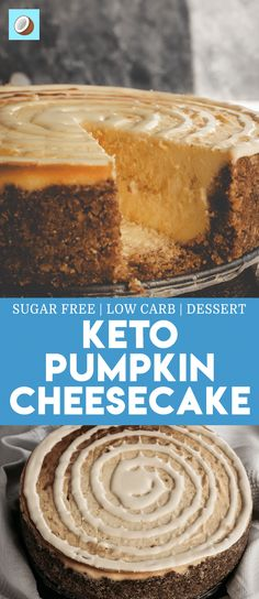 You might take an apple or cherry pie for a Christmas dessert, but what if you took a pumpkin cheesecake this year? This recipe is probably one of the best tasting cheesecakes I've ever had. Plus, it is keto friendly too. New York Baked Cheesecake, Low Carb Cheesecake, Cheesecake Recipes, Cheesecake Bites, Desserts Keto, Keto Friendly Desserts, Dessert Recipes, Keto Snacks, Cookie Recipes